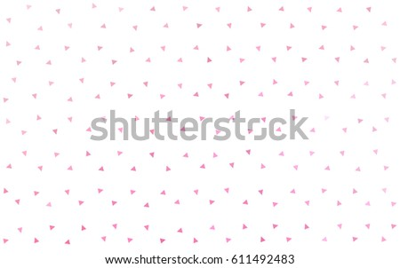Light Pink, Yellow vector of small triangles on white background. Illustration of abstract texture of triangles. Pattern design for banner, poster, cover. #611492483