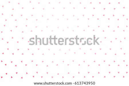 Light Pink, Yellow vector of small triangles on white background. Illustration of abstract texture of triangles. Pattern design for banner, poster, cover. #613743950