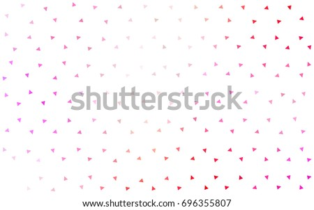 Light Pink, Yellow vector of small triangles on white background. Illustration of abstract texture of triangles. Pattern design for banner, poster, cover. #696355807