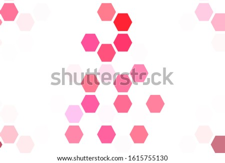 Light Pink, Yellow vector pattern with colorful hexagons. Colorful hexagons on blur backdrop. Pattern for your ad, booklets.