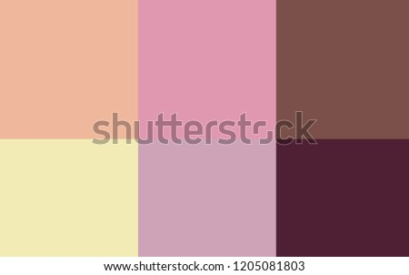 Light Pink, Yellow vector template with rainbow of colours. Color palette with set of colors. Pattern of colors for design of ads, posters, banners.