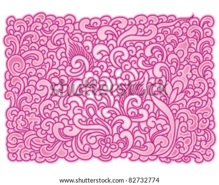 light-purple Asian floral pattern
