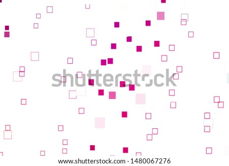 Light Purple, Pink vector background with rectangles. Rectangles on abstract background with colorful gradient. Background for cell phones.