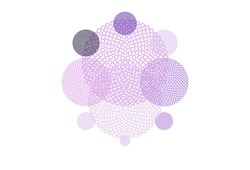 Light Purple, Pink vector background with spots. Beautiful colored illustration with blurred circles in nature style. Design for poster, banner of websites.