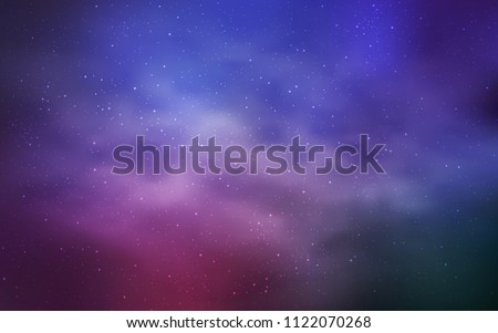 Light Purple, Pink vector layout with cosmic stars. Space stars on blurred abstract background with gradient. Smart design for your business advert. - Shutterstock ID 1122070268