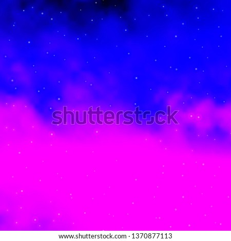 Light Purple, Pink vector template with neon stars. Blur decorative design in simple style with stars. Design for your business promotion. #1370877113