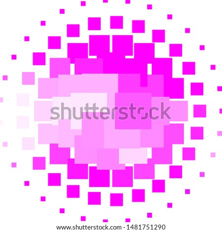 Light Purple, Pink vector texture in rectangular style. New abstract illustration with rectangular shapes. Pattern for commercials, ads.
