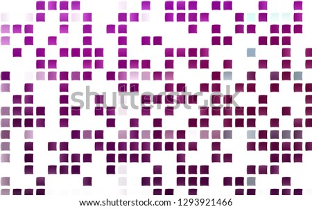 Light Purple vector backdrop with rectangles, squares. Rectangles on abstract background with colorful gradient. Best design for your ad, poster, banner.