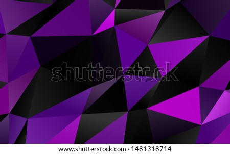 Light Purple vector shining triangular background. Shining colored illustration in a Brand new style. Textured pattern for background.