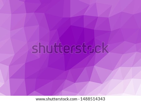 Light Purple vector shining triangular background. Shining colored illustration in a Brand new style. Template for a cell phone background.