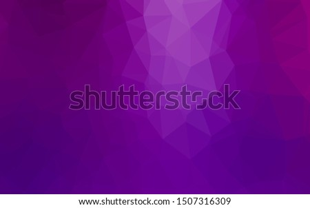 Light Purple vector shining triangular background. Shining colored illustration in a Brand new style. Polygonal design for your web site.
