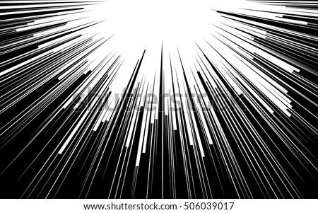 light rays comic book black