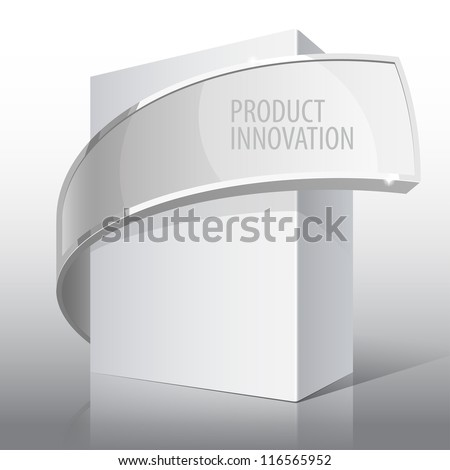 Light Realistic Package Cardboard Box. For presentation Software, electronic device and other products. Vector illustration