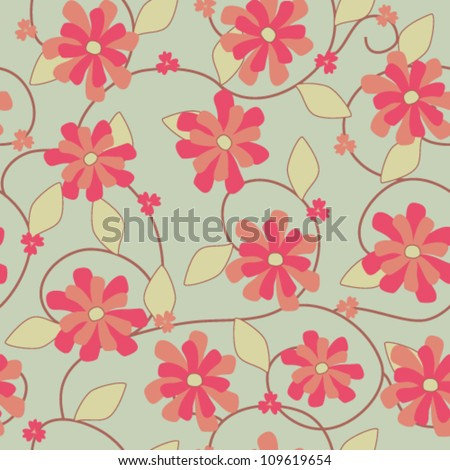 stock-vector-light-red-and-ocher-flowers-seamless-pattern