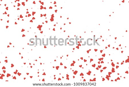 Light red vector abstract small hearts on white background. Template ...