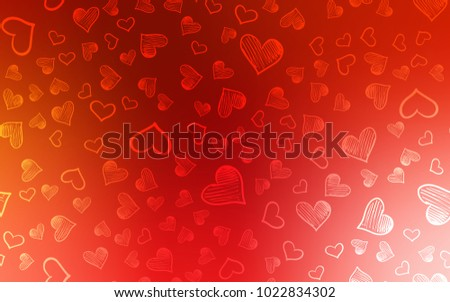 Light Red Vector Background With Hearts Beautiful Colored Illustration In Celebration Style