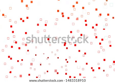 Light Red vector background with rectangles. Rectangles on abstract background with colorful gradient. Best design for your ad, poster, banner.