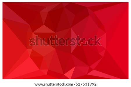 Light Red vector blurry triangle background design. Geometric background in Origami style with gradient.