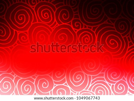 light red vector doodle blurred