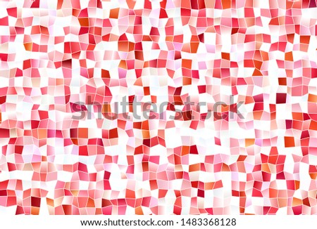 Light Red vector layout with lines, rectangles. Rectangles on abstract background with colorful gradient. Smart design for your business advert.
