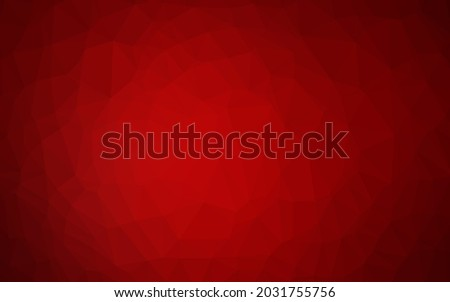 light red vector low poly cover