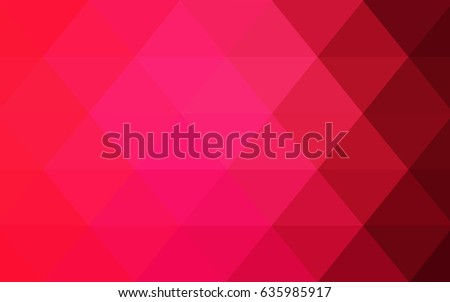 Light Red vector Low poly crystal background. Polygon design pattern. Low poly illustration, low polygon background.