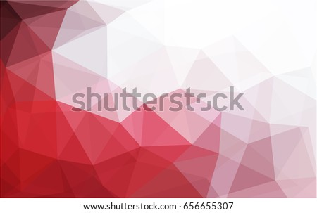 light red vector low poly crystal background polygon design pattern
