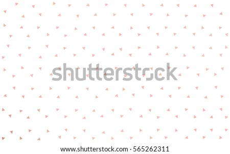 Light Red vector of small triangles on white background. Illustration of abstract texture of triangles. Pattern design for banner, poster, cover. #565262311