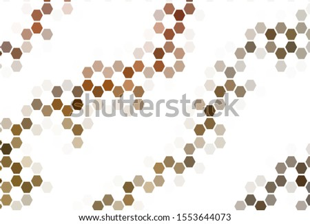 Light Red vector pattern with colorful hexagons. Colorful hexagons on blur backdrop. Pattern for ads, leaflets.