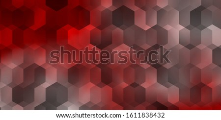 Light Red vector pattern with colorful hexagons. Colorful hexagons on blur backdrop. Pattern for your ad, booklets.
