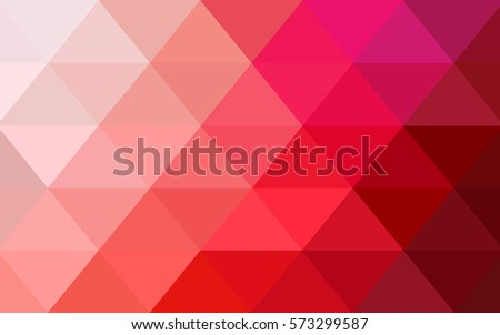 Light Red vector polygonal illustration, which consist of triangles. Triangular pattern for your business design. Geometric background in Origami style with gradient.