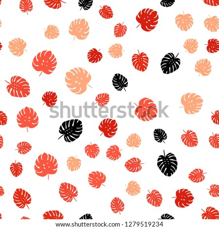 Light Red vector seamless elegant template with leaves. leaves on elegant natural pattern with gradient. Design for wallpaper, fabric makers. #1279519234
