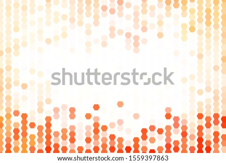 Light Red vector texture with colorful hexagons. Colorful hexagons on blur backdrop. Design for your business advert.