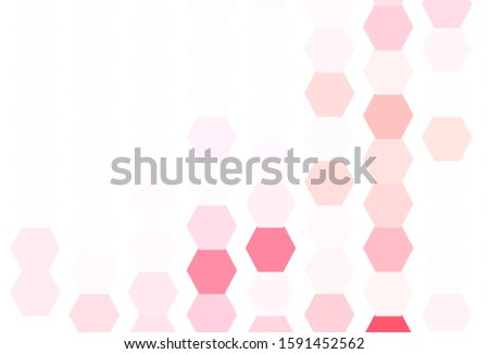 Light Red vector texture with colorful hexagons. Colorful hexagons on blur backdrop. Design for website posters, banners.