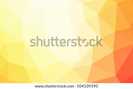light red  yellow polygonal
