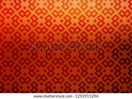 Light Red, Yellow vector backdrop with rectangles, squares. Rectangles on abstract background with colorful gradient. Modern template for your landing page.
