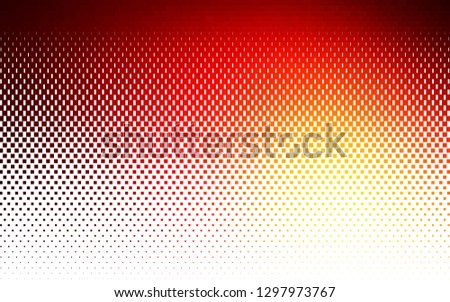 Light Red, Yellow vector background with rectangles. Rectangles on abstract background with colorful gradient. Pattern can be used for websites.