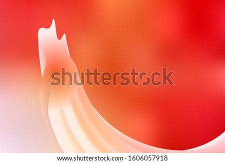 Light Red, Yellow vector blurred shine abstract texture. Shining colorful illustration in smart style. New style design for your brand book.