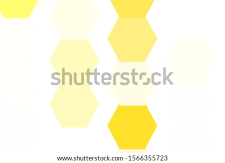 Light Red, Yellow vector pattern with colorful hexagons. Colorful hexagons on blur backdrop. Design for website posters, banners.