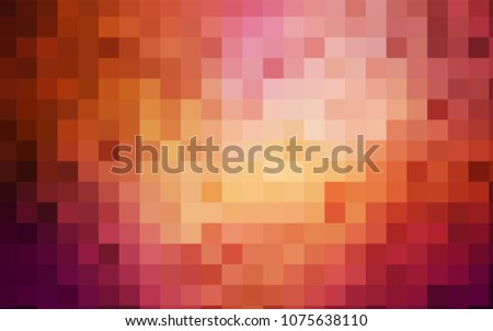 Light Red, Yellow vector polygonal illustration, which consist of rectangles. Rectangular pattern for your business design. Geometric background in Origami style with gradient.