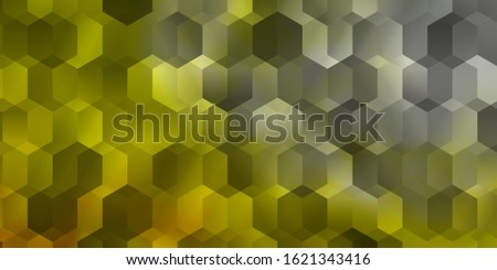 Light Red, Yellow vector texture with colorful hexagons. Colorful hexagons on blur backdrop. Pattern for landing pages.