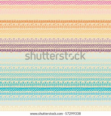 light seamless pattern with horizontal ornament