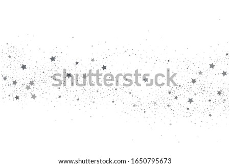 Light silver glitter confetti background. White holiday texture