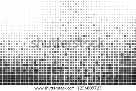 Light Silver, Gray vector backdrop with rectangles, squares. Rectangles on abstract background with colorful gradient. The template can be used as a background.