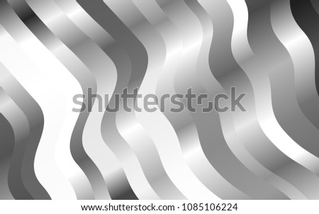 Light Silver, Gray vector background with bent lines. Geometric illustration in marble style with gradient.  Pattern for your business design.