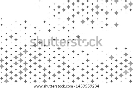 Light Silver, Gray vector layout with bright stars. Shining colored illustration with stars. The pattern can be used for websites.