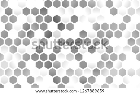 Light Silver, Gray vector layout with hexagonal shapes. White background with colorful hexagons. New template for your brand book.