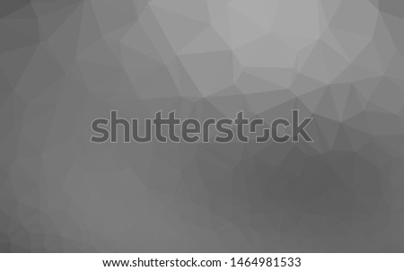 Light Silver, Gray vector shining triangular background. Shining illustration, which consist of triangles. New texture for your design.