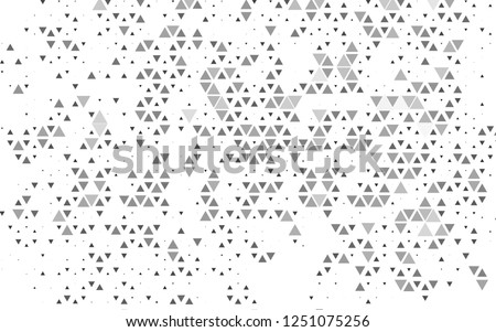 Light Silver, Gray vector template with crystals, triangles. Decorative design in abstract style with triangles. Pattern can be used for websites.