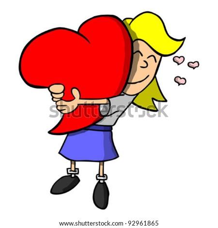 light skinned girl hugging